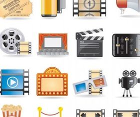 movie icon 4 vectors material