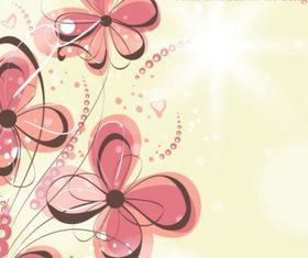 flowers illustration background pattern 04 vector