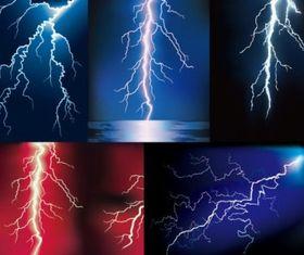 lightning set vector
