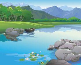 beautiful landscape 02 shiny vector