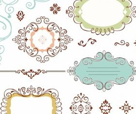 Ornate Frames free vector