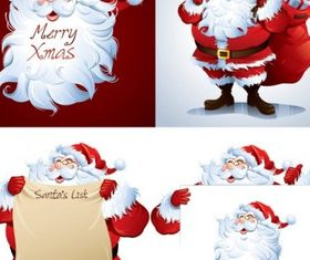 santclaus cartoon picture vectors material