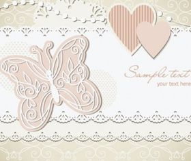 wedding label background 03 vector material
