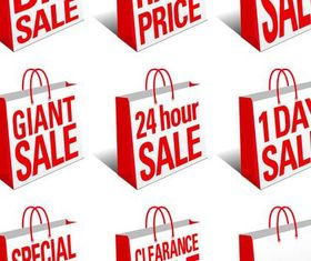Sale Red Symbols vectors graphic