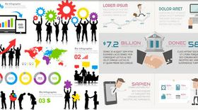 Business Infographics Elements 5 vector