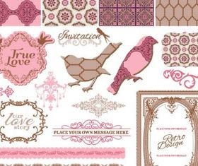 exquisite lace pattern 01 vector graphics