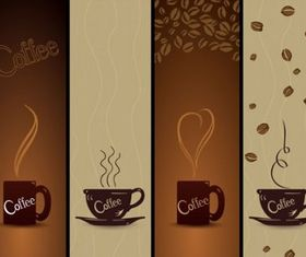 coffee banner01 vectors material