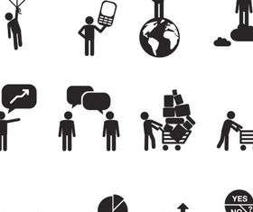 Business People Icons 16 vector