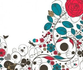 Floral Flowerr Background vector