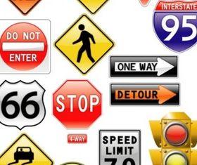 road signs traffic light vector
