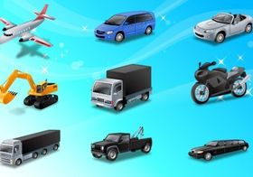 Land Transport Icons vector design