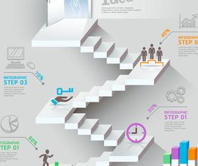 Career Staircase Backgrounds vectors graphics