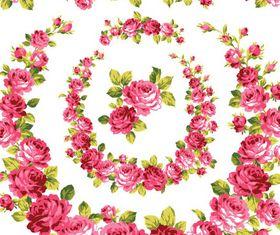 Shiny Roses Set vector