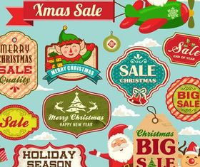 Sale Christmas Labels vector