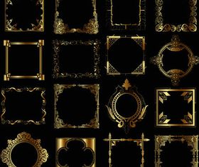 Gold Ornamental Frames art vector