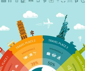 Travel Infographics Set 2 vector