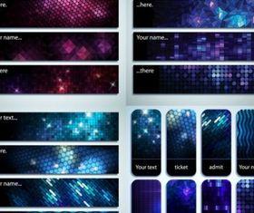 starstudded background banner vectors
