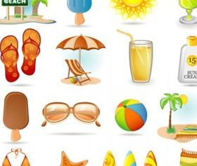 summer icon vector graphics