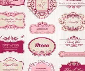 pattern label free vectors material