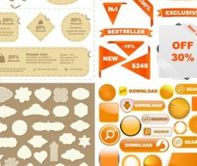 web design decorative elements creative vector