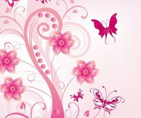 Floral Swirl with vectors graphic