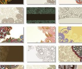 pattern card background 2 vector material