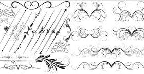 Ornate Swirl Elements 11 Illustration vector