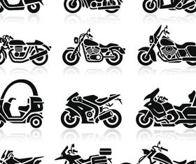 Motorcycles Silhouettes vector