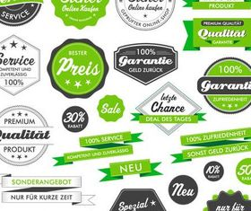 Shiny Green Sale Labels set vector
