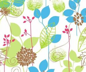 Seamless Floral Design Background vector graphics