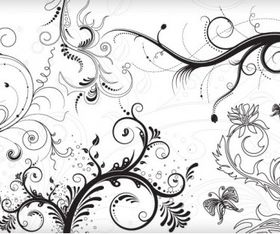 Floral Ornaments graphic Illustration vector