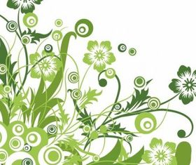 Green Floral Design Graphic vector graphics