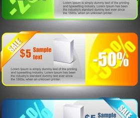 color banners 02 vector graphics