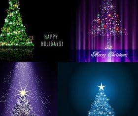 flash christmas tree vector graphics