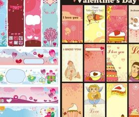 cute valentine day background vector
