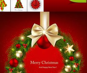 X-mas Shiny Backgrounds vector