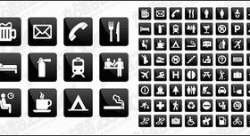 Common instructions living icon vector graphics