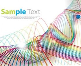 Abstract Wave Line Background art vector