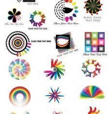 color logo pattern vector