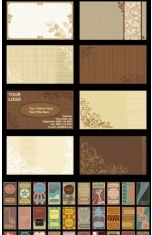background card template set vector