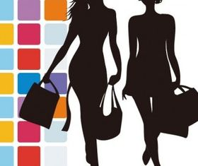 Fashion Shopping Illustration set vector