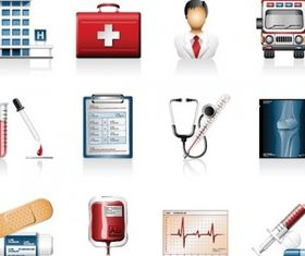 hospital icons vectors
