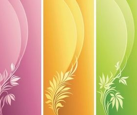 Fashion Floral with Curve Background vector