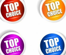 Top Choice Sticker Set vector