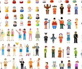 icon go figure articles set vector