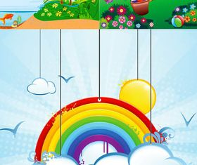 Backgrounds with Rainbow vector