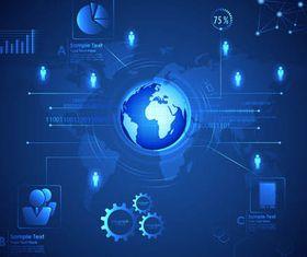 Technology Backgrounds Set vectors