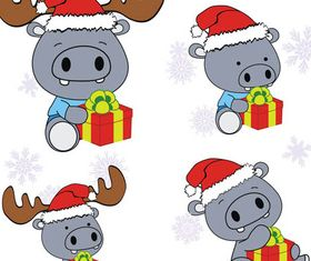 Christmas Cute Characters vectors graphics