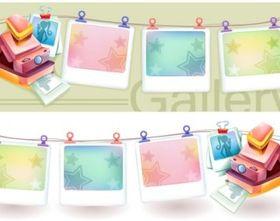 polaroid camerand photo frame vector
