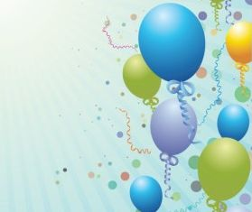 Balloons design background art shiny vector